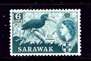 Sarawak 200 MH 1957 issue