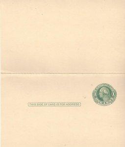 US  UY7  Mint  Postal Reply Cards  Washington