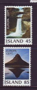 Iceland Sc 490-1 1977 Europa stamp set mint NH