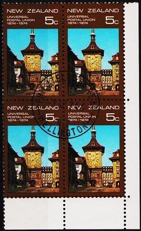 New Zealand. 1974 5c (Block of 4) S.G.1048 Fine Used