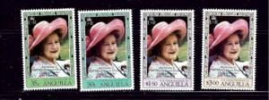 Anguilla 394-97 MNH 1980 Queen Mother Birthday