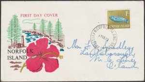 NORFOLK IS 1962 1/- Fish - commem FDC.......................................C750