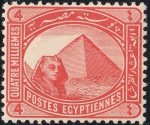 Egypt 1906 KEVII 4m Vermilion MH