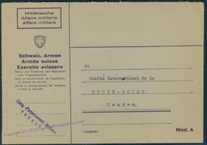 Switzerland WWII Internment Camp Yvonand Soldier Feldpost Cover 54108