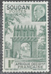 DYNAMITE Stamps: French Sudan Scott #118 – UNUSED