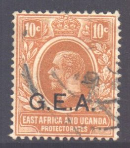Tanganyika Scott N109 - SG49, 1917 GEA Overprint 10c used