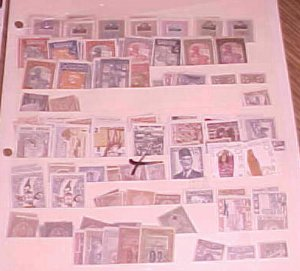 SUDAN 23 DIFF. STAMPS, TUNESIA 10 DIFF.  MINT MOSTLY LIGHT HINGED TOTAL 125