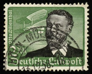 22. Germany Scott C55, Michel 538, 2 Reichmark Air Mail 1934, used. SCV = $20