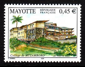 Mayotte MNH Scott #190 45c Mtzamboro College