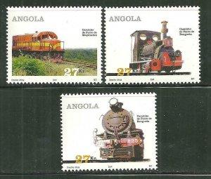 Angola MNH 1271-3 Trains CHOO!!! CHOO!!!!