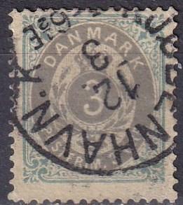 Denmark #25 F-VF Used CV $15.00 (A19305)