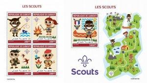 Z08 IMPERF DJB190518ab DJIBOUTI 2019 Scouts MNH ** Postfrisch