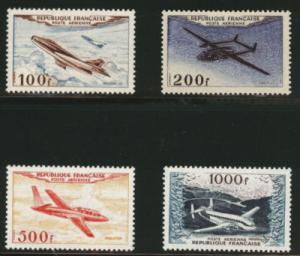 FRANCE Scott C29-32 MNH** 1954 airmail set, SG 1194-97, Y...