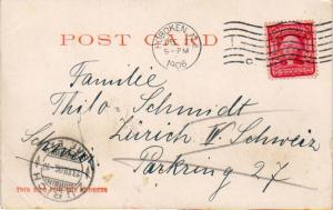 United States New Jersey Hoboken 1906 machine  2c Washington Shield PPC to Sw...