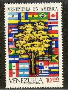 VENEZUELA 999 MNH SCV $9.00 BIN $4.50 FLAGS