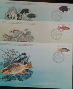 O) 1979 SURINAM -SURINAME, TROPICAL FISH -MICROSPATHODN 35c -APOGON BINOTATUS 2c