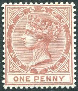 TOBAGO-1882 1d Venetian Red Sg 15 LIGHTLY MOUNTED MINT V31461