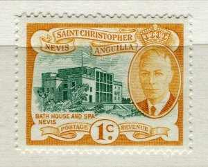 NEVIS ST. CHRISTOPHER; 1952 early GVI pictorial issue MINT MNH 1c. value