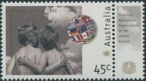 Australia 1995 SG1529 45c United Nations with tab MNH