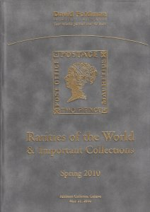 Rarities of the World, rare stamps, covers, collections. 2010 Feldman Catalog