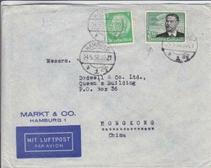 1938, Hamburg, Germany to Hong Kong, China, Airmail (31107)