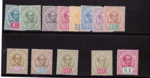 Sarawak #36 - #47 VF Mint Set
