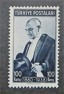 Turkey 841 var. 100K Blue black, single from the souv. sheet