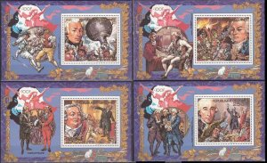 1989 Guinea 1263/B341-66/B344 200 years of the French Revolution 20,00 €