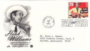 1998, Honoring Hank Williams, Art Craft/PCS, FDC (E11258)