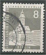 BERLIN, 1956, used 8pf City Hall, Neukölln Scott 9N124