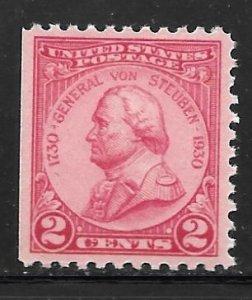 USA 689: 2c Baron von Steuben, MNH, SE
