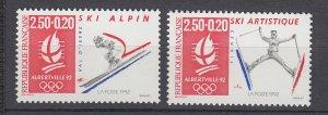 J29303, 1991 france set mnh #b636-7 sports