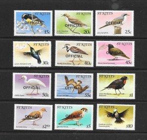 BIRDS - ST KITTS #O11-22  MNH