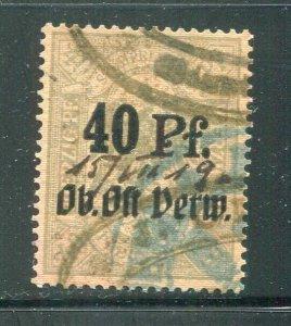 x195 - ESTONIA 1918-19 PROVISIONAL Revenue Stamp. 40pf Overprint. Green. Prussia