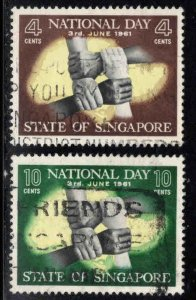 Singapore National Day stamps Scott 51-52 Used