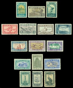 COLOMBIA 1935 3rd Nat. OLYMPIC GAMES BARRANQUILLA set  Scott # 421-435 mint MH