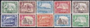 Aden 1939-48 Scott 16-24 George VI & Various Scenes MH some brown gum shrt set