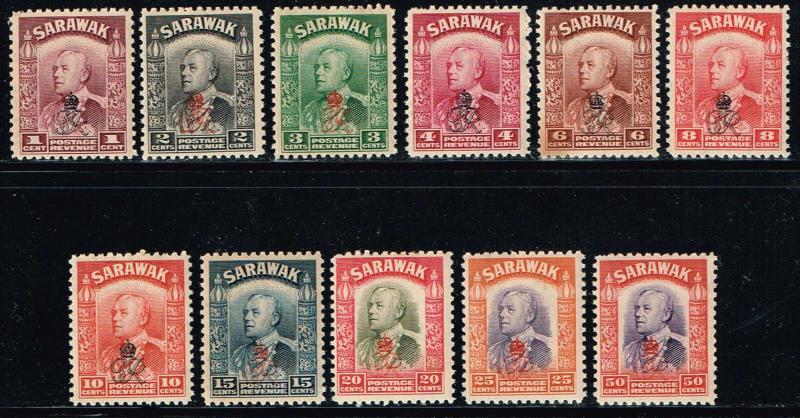 Sarawak # 159 - 165, 167 - 170 MNH