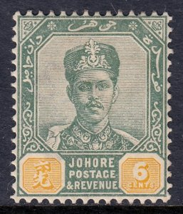 Malaya (Johore) - Scott #43 - MH - Toning - SCV $2.40