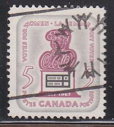 Canada 470 Hinged Used 1967 Woman and Ballot Box (Expo67 CDS)