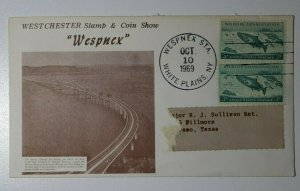 WESPNEX Stamp & Coin Show Whites Plains NY 1969 Philatelic Expo Cachet Cover