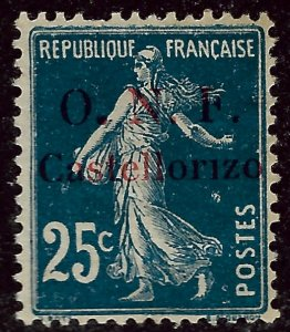 Castellorizo Sc #31 Mint F-VF short perf SCV$57.50...French Colonies are Hot!