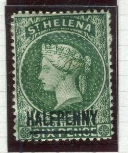 ST. HELENA; 1884-94 early classic QV issue fine unused HALF PENNY
