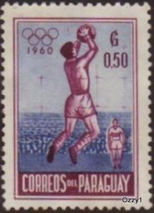 Paraguay 1960 Sc #557 SG #864 50c Olympic Soccer VFU