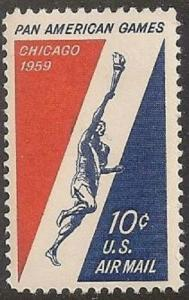 US C56 Airmail Pan America Games 10c single MNH 1959