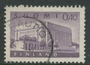 Finland - Scott 406 - House of Parliment -1963- Used - Single 40p Stamp