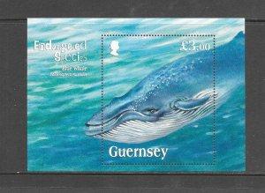 FISH - GUERNSEY #1124  BLUE WHALE  MNH