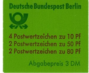 Germany #9N391c Complete Booklet  CV $8.75 (X2672)