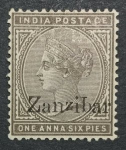 MOMEN: ZANZIBAR STAMPS SG #5 VAR. INVERTED q 1895-6 MINT OG H LOT #195860-4168
