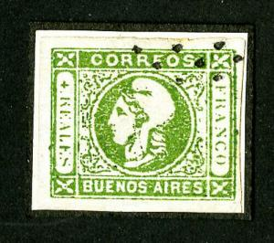 Argentina Buenos Aires Stamps # 9 Superb Used Scott Value $275.00